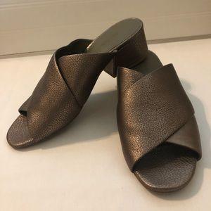 Vince Karsen Leather Sandals bronze 7.5